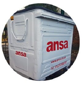Ansa commercial waste services bin