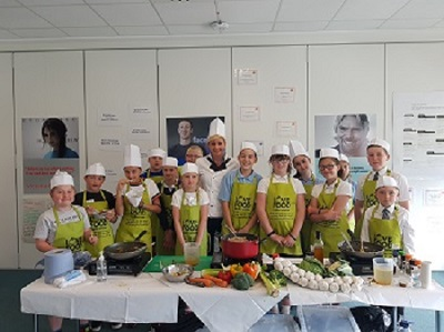 Primary College - cooking with Chef Emma Shawcross